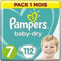 PAMPERS Baby-Dry tamaño 7, 112Pañales, para transpirable sequías monats Box, 1er Pack (1x 112unidades)