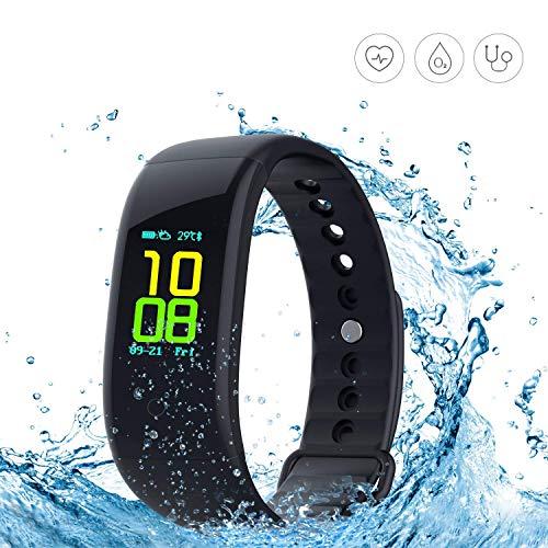 dgrtuy Fitness Tracker, Activity Tracker Farbdisplay Smart Wristband Herzfrequenz Test, IP67 Wasserdicht Sport Armband Schritte, Laufstrecken, Kalorien/Schlaf-Überwachung etc