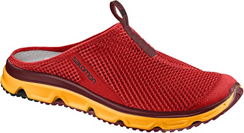 Salomon Herren Slipper RX Slide 3, Rot (Fiery Red/Bright Marigold/Syrah), 46 EU