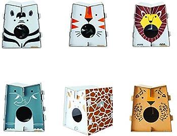 Mobilier de jeu et couchage pour chat design avec griffoir intégré (zèbre)