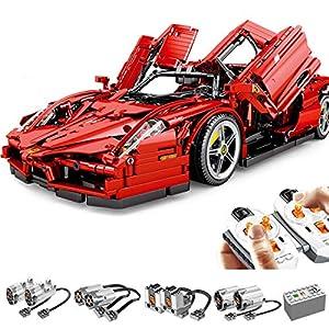 Tosbess Technic Auto Sportiva Ferrari Enzo, 2,4Ghz RC 1:10 Auto con Motore e Telecomando, 2615 Pezzi Blocchetti di… Lego Outlet LEGO