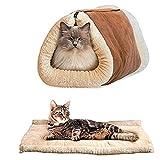 Happy FD 2in 1Pet tunnel lusso cuscino Mat Cat Dog Puppy riscaldamento in pile coperta divano letto Pad