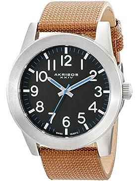Akribos XXIV Herren-Armbanduhr Analog Quarz AK779SSBR