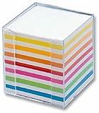 Zettelbox 9.5x9.5x9.5 glasklar FOLIA 9903 Papier weiss+fbg.