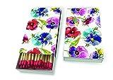 1 Packung Streichölzer Kaminhölzer Vintage Gemalte Stiefmütterchen Blumen 45 Stück