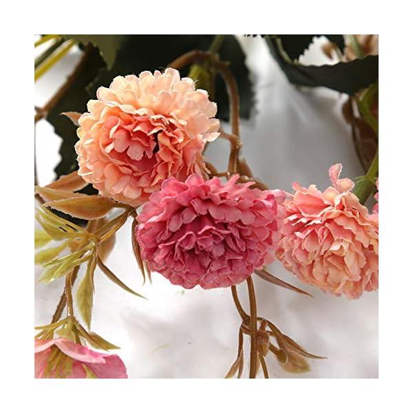 NAttnJf Simulación Artificial Claveles Flores Planta Bouquet Mesa Hogar Oficina Hotel Decoración Pink