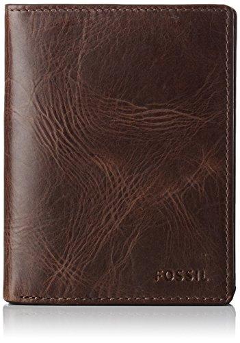 Fossil Herren Derrick Geldbörse, Braun (Dark Brown) 2.5x12.7x7.6 cm
