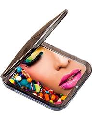 Miss Sweet Kompakter Taschenspiegel, beleuchtet, getreues Abbild & 10-fache Vergrößerung