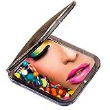 Miss Sweet Miroir de poche compact, reflet taille réelle, miroir grossissant 10x