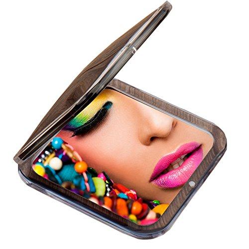 Miss Sweet - Espejo de bolsillo compacto con imagen real y aumento de 10 x