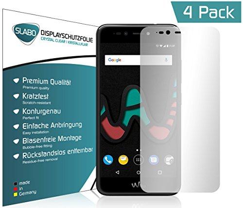 4 x Slabo Bildschirmschutzfolie für Wiko Upulse Lite Bildschirmfolie Schutzfolie Folie Zubehör (verkleinerte Folien, aufgr& der Wölbung des Bildschirms)