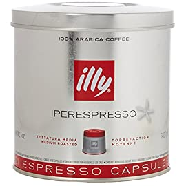 illy Coffee, Classico Espresso Coffee Capsules, Medium Roast, 100 Percent Arabica Coffee Beans, 21 Capsules