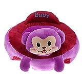 Gazechimp Siège Bébé Assis Peluche Siège Support Bébé Canapé Chaise Pour Tout- Petit 3-16 mois - Singe Violet
