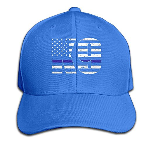 Yuerb Hüte,Kappen Mützen Police K9 Thin Blue Line Adjustable Baseball Caps Unstructured Dad Hat 100% Cotton Black -
