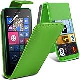 (Grün) Nokia Lumia 630/635 Schutzmaßnahmen Kunst Credit / Debit-Karten-Leder Flip Case Hülle & LCD-Display Schutzfolie von Hülle Spyrox