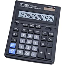 Citizen SDC-554S - Calculadora (Escritorio, Batería, Basic calculator, Negro, Botones, GP189)