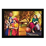 Delight Multicolor Village Painting