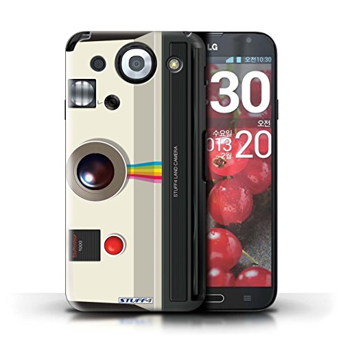 Kobalt® Imprimé Etui / Coque pour LG Optimus G Pro / Compact conception / Série Appareil Photo Instantanée Retro