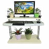Computertische FEI Stand up Desk Höhenverstellbarer Stehtisch mit Tastaturablage