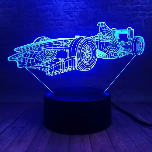 Cool man rennwagen 3d led nachtlicht dekor rgb usb lampe schlafzimmer schlaf licht 7 farbwechsel rc auto für baby weihnachtsgeschenk spielzeug ## 8 - Equalizer Kissen