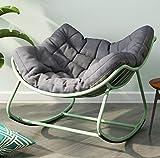 Nwn Massivholz Schaukelstuhl Esszimmerstuhl mit Armlehnen Office Home Computer Stuhl Rückenlehne Studie Lounge Chair (Farbe : Gelb)