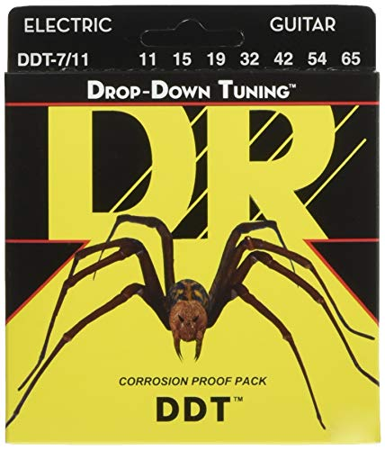 DR E DROP DDT7-11 Drop-Down Tuning Medium Heavy Saite (7-String)