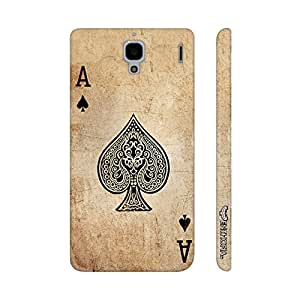 Xiaomi Red Mi 1s BE THE ACE OF SPADES designer mobile hard shell case by Enthopia