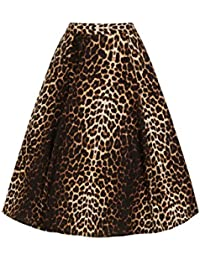 edee2bf3039 Hell Bunny Panthera Leopard Pin-Up 1950 s Rockabilly Flare Skirt