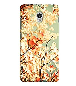 Omnam Tree Leaves With Sun Shadow Effect Printed Designer Back Cover Case For Lenovo Vibe P1
