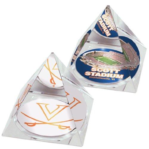 sity Cavaliers Stadion und Logo, in 5 cm Kristallpyramiden mit farbigen Fenstern, 2 Stück ()