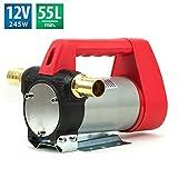 Dieselpumpe Heizölpumpe 12V/245W 55l/min Pumpe Kraftstoffpumpe Ölpumpe FT-55L12R