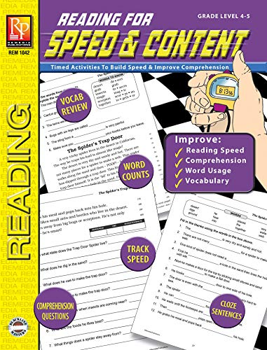 READING FOR SPEED & CONTENT (GR. 4-5) (English Edition) eBook ...