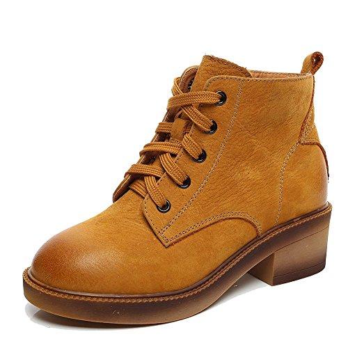 Femme Martin Boots Omd9331 Chaussures De Pluie Chaudes Avec Fermeture À Glissière Latérale Et D'hiver, Kjjde Unique Abricot
