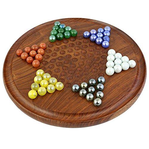 Halma Chinese Checkers Brettspiele Mit Steine Strategiespiele Holz Geschenke zum Geburtstag