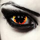 "Mini sclera lentillas de colores negro y naranjas para Halloween costume 17mm lentes de tres meses sin dioprtías / corregir + gratis caso de lente ""Dying Sun"""