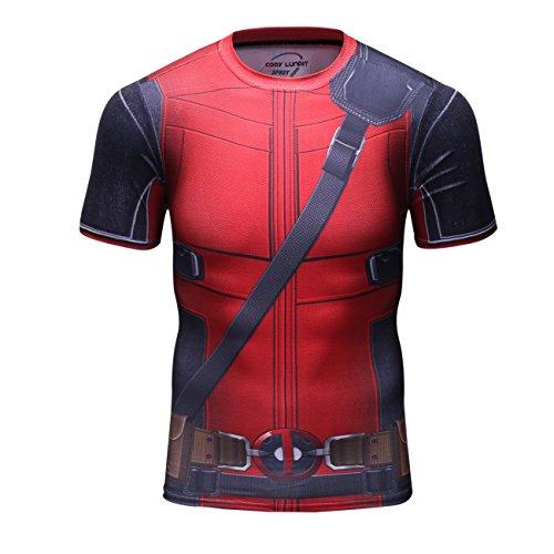 Cody Lundin Flim Theme T-Shirts Elastizität Tight Sport Herren Kurzarm T-Shirts (L) -