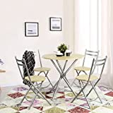 Best GENERIC Outdoor Folding Chairs - Chopstick Style 5pcs Dining Table and Chairs Review
