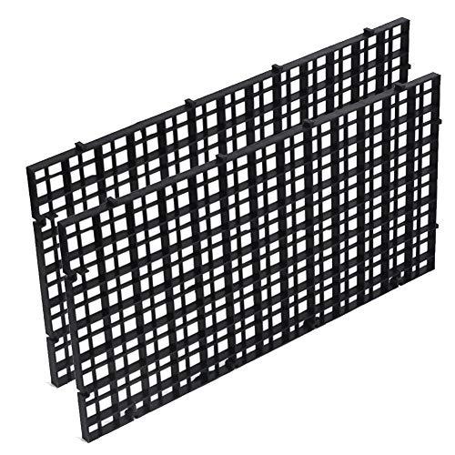 QPllRZZ Filtro Aislante para Tanque de Peces, Bandeja separadora para huevera, Parte Inferior, 2 Unidades (Transparente)