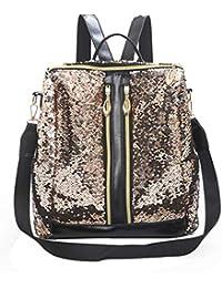 cfeb9fe38698a Giulogre Frauen Rucksack College Wind Bag große Kapazität Beiläufige  Einfarbige Reißverschluss Backpack Rucksack Vielseitige College Windtasche
