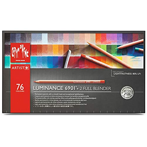 Caran d'ache Luminance 6901 - Paquete de 76 lápices de colores, multicolor