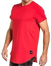 Sixth June - T-shirt uni oversize arrondie rouge homme