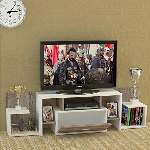 Kingo set soggiorno - bianco / avola - mobile tv porta in un design moderno