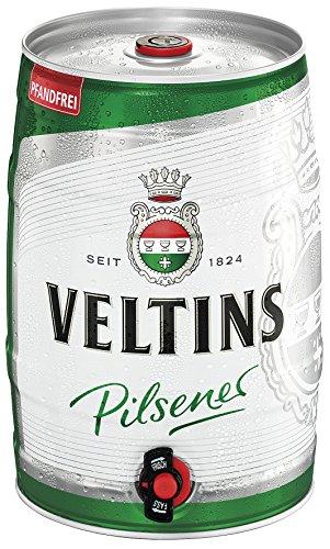 VELTINS Pilsener, Pfandfrei (1 x 5 l Partyfass) -