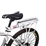 Enkrio Verstellbarer Fahrrad hinten Cargo Rack-Ständer footstock Zubehör für das Fahrrad-Rack, Fahrrad-Sitz 110lb, ENOT000044, weiß