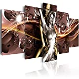 CANPIC Pop Art Pictures Poster 5 Panel Prints Sexy Nude Gold Sliver Uomini Donne Tela Pittura Home Kids Room Decor HD Wall Art modulare-S2NoFrame