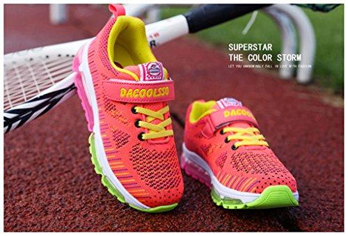 NEWZCERS bambini unisex a cuscino d'aria respirabile moda di assorbimento urti scarpe da corsa scarpe da ginnastica Rosa
