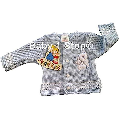 Baby Cardigan de recién nacido prematuro Early bebé Prem elección de azul o blanco