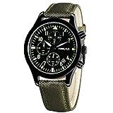 FASIOU orologio con cronografo da uomo - Orologi da polso sportivi, stile militare, waterproof YISUYA