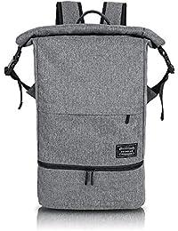Weekender Bag Laptop Backpack 15.6 Inch Waterproof Backpacks Hiking Rucksack With Shoe Compartment Daypack For...