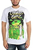 Cannabis Corpse - Mens Vaporized White T-Shirt, Large, White